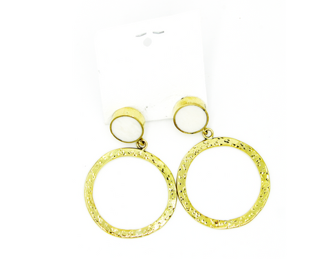 Brass Earrings Various Colours
