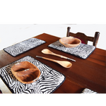 Table Placement Set Zebra with Table Runner