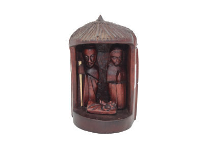 Wooden Nativity Hut