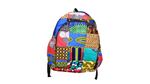 Patchwork school backpack
