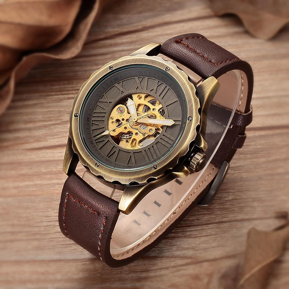 ALFREDO AUTOMATIC VINTAGE RETRO SKELETON WATCH