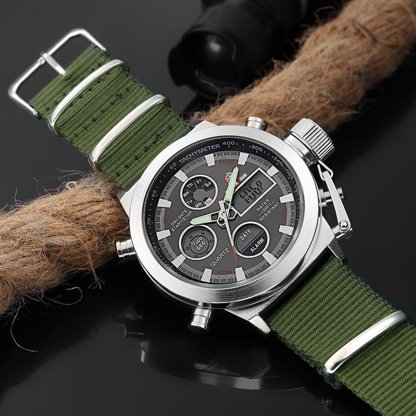 GREEN ARMY MILITARY WATERPROOF LED WATCH