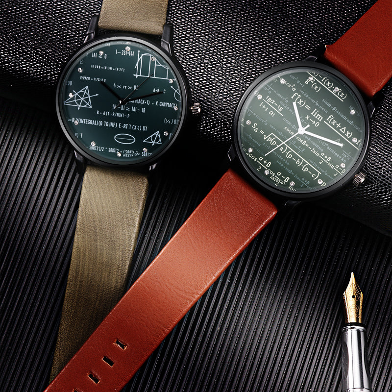 MATH LOVER LEATHER WATCH