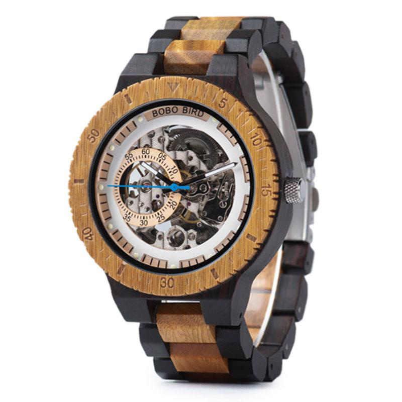 Mechanistic Wooden Watch