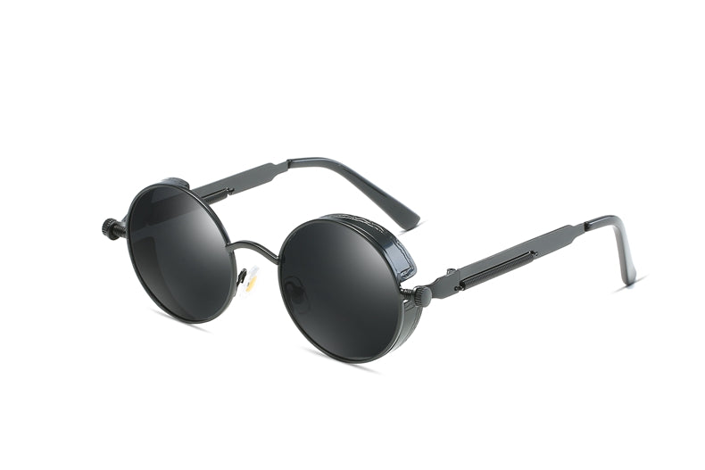 All Black JACOB Vintage Steampunk Sunglasses