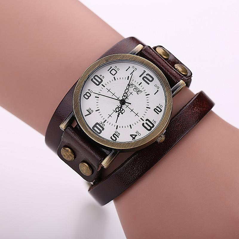 CCQ Leather Vintage Watch