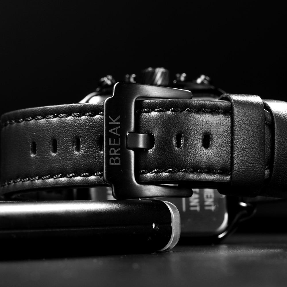 BREAK SQUARE MILITARY SKELETON WATCH