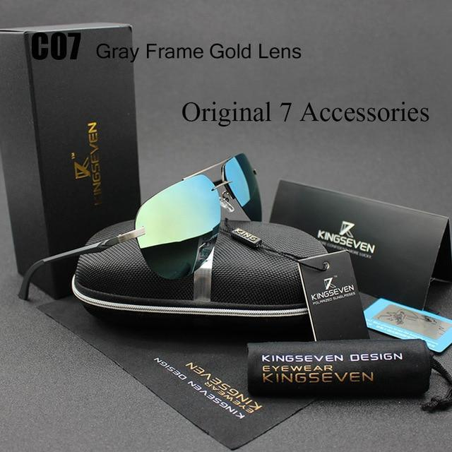 KINGSEVEN MIRRORED POLARISED SUNGLASSES