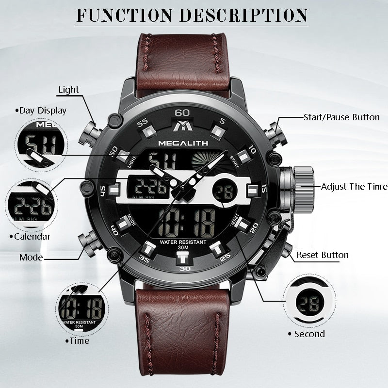 Sport Quartz Multifunction Waterproof Luminous Wristwatch