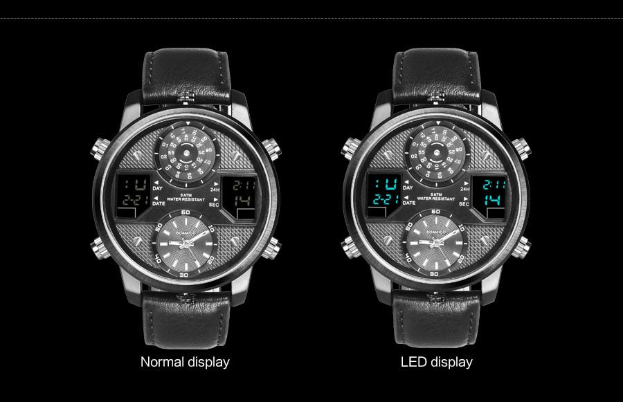 3 time zone creative LED Digital Sports Watches