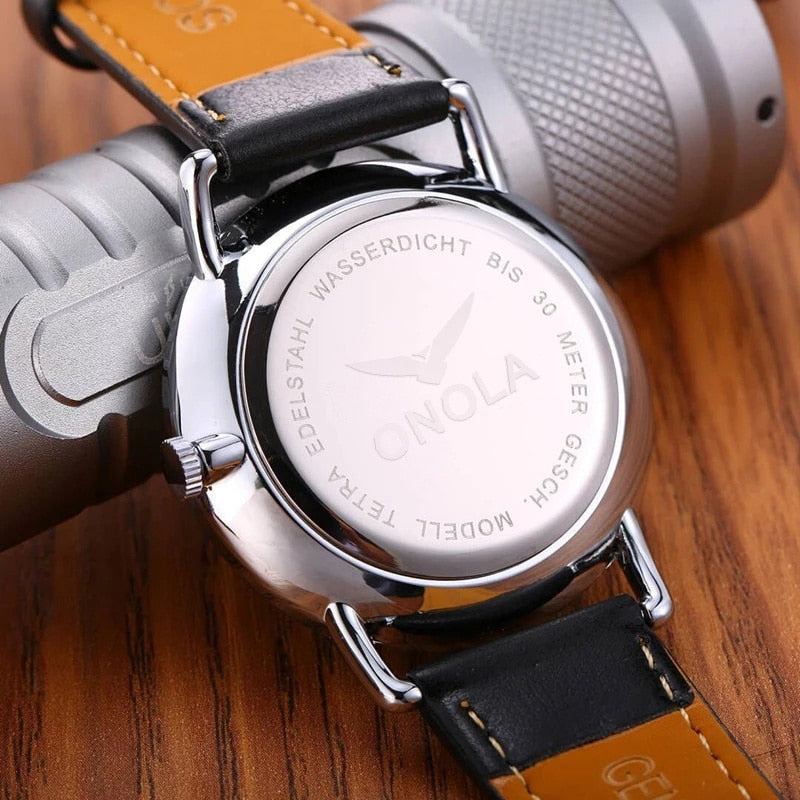 Simple Casual Leather Business Wrist Watch