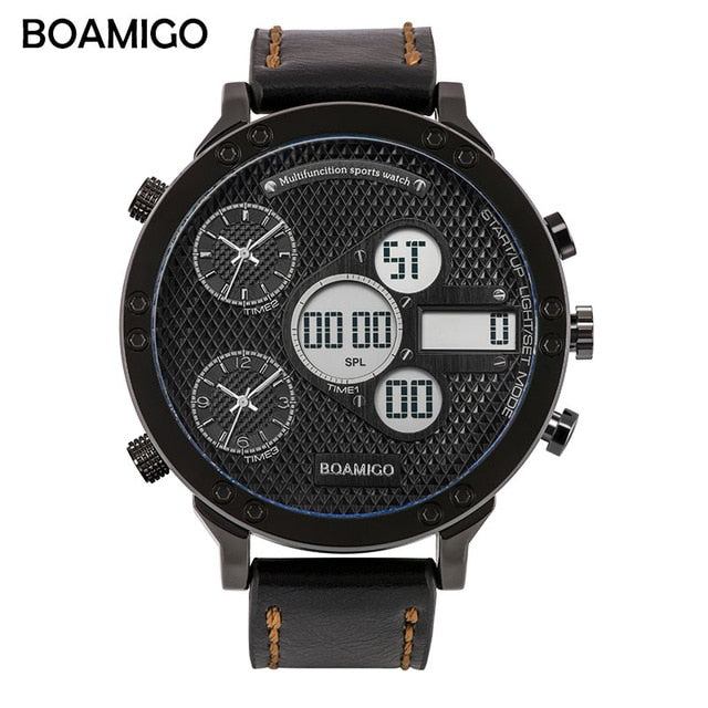 Military Sports Watches Men's Quartz LED Digital  3 Clock