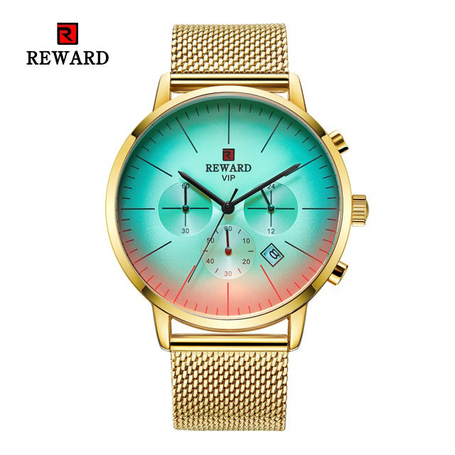 Color Bright Glass hronograph Business Watch