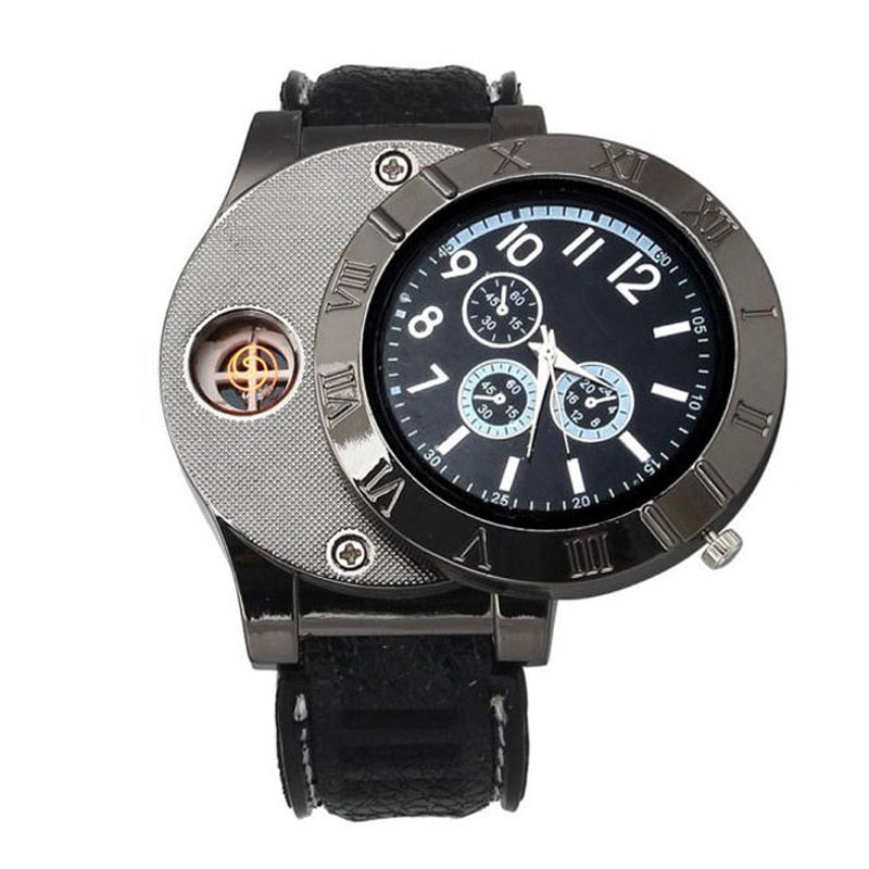 USB Charge LighterWindproof Electronic Flameless Lighter Watches