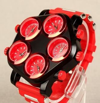 5 Time Zone Silicone Watches