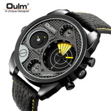 Oulm Men's Casual Sports Watches Unique Design