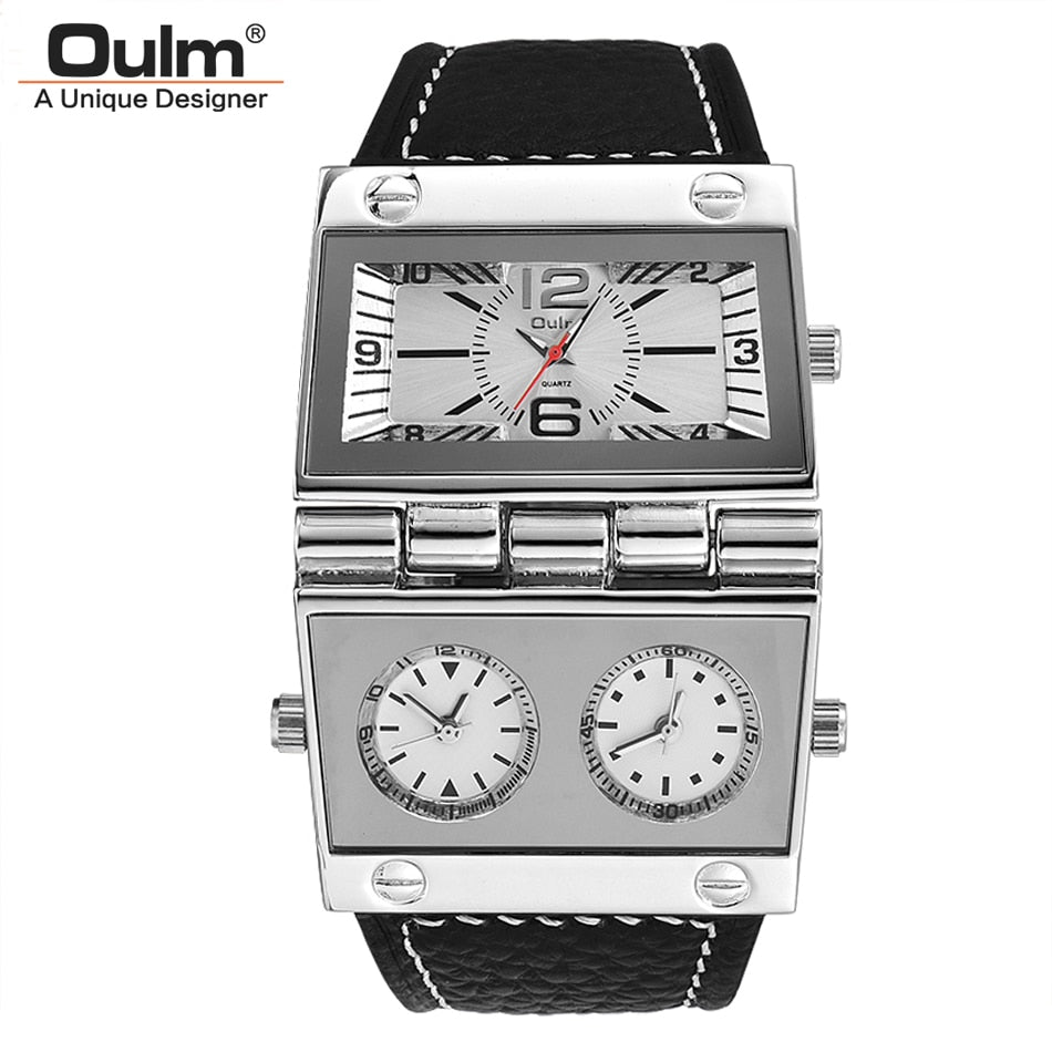 Oulm New Sports Watches Men Dual Display