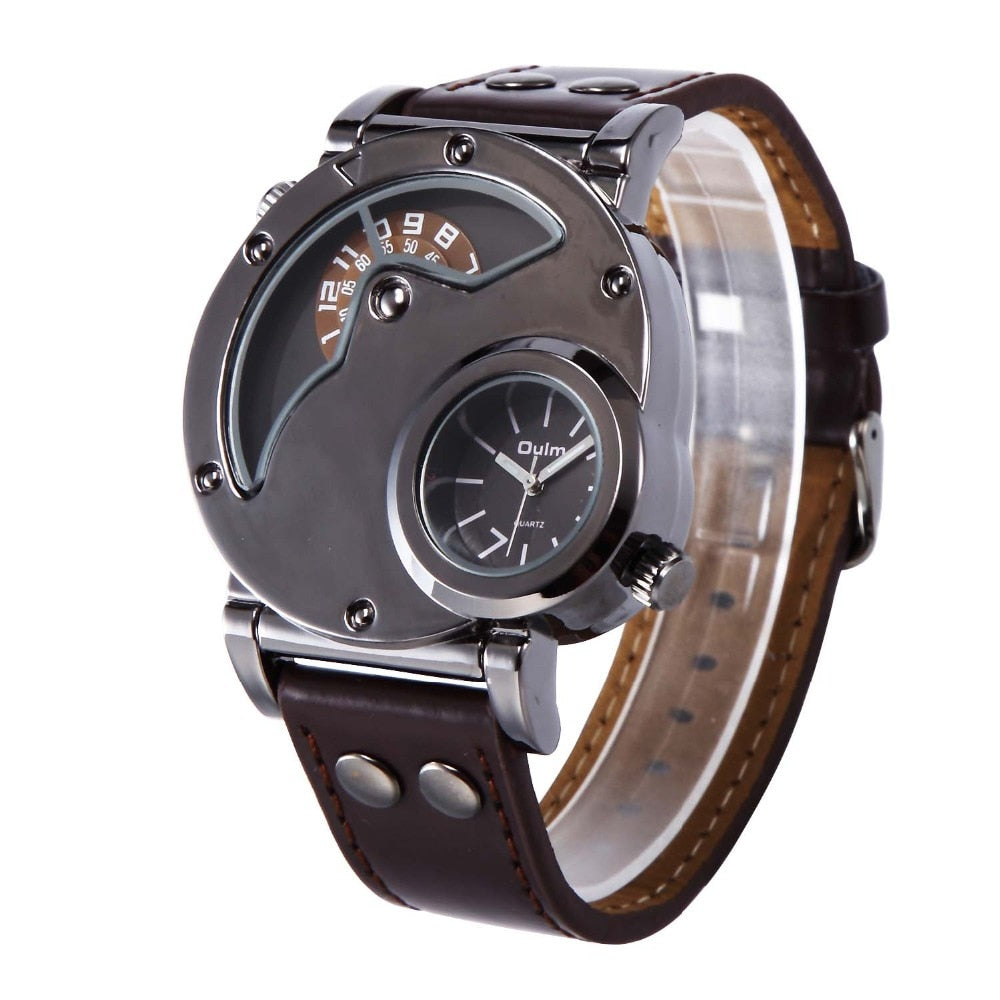 Luxury Watches Stainless Steel Leather Watch