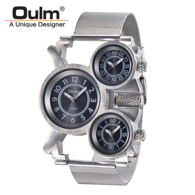 Military Outdoor Wrist Watch 3 Time Zone