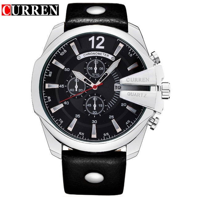 Quartz Hombres Leather Wrist Watches