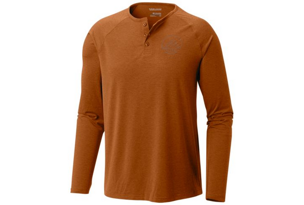 COLUMBIA - TRAIL SHAKER III LONG SLEEVE HENLEY BUTTON - BROWN