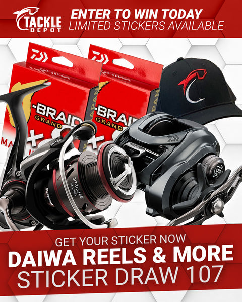 Tackle Depot Daiwa Reels & More Sticker Draw 107