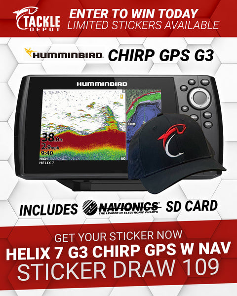 Tackle Depot Humminbird Helix 7 G3 Chirp GPS w Nav & Hat Sticker Draw 109