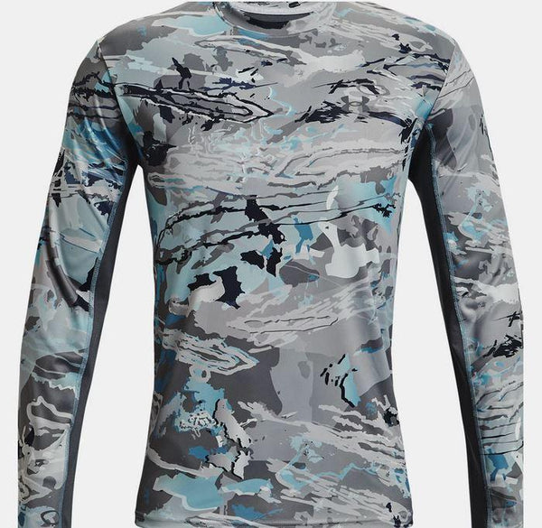 UNDER ARMOUR ISO-CHILL SHOREBREAK LS TEE CAMO