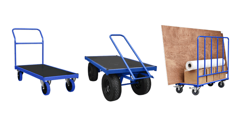 Trolleys, Flatbeds, Platform Trucks and More - Collection Image - Displaying Flatbed Trolley, Turntable Trolley and Double Sided Trolley