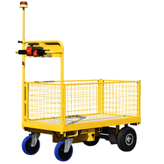 Power Trolley Rear with Extending Overhead Flashing Amber Safety Beacon