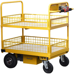 Powered Trolley with Pneumatic Castors