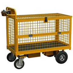 powered cage trolley with half hitch sides