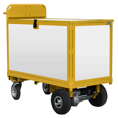 plastic clad motorised security trolley
