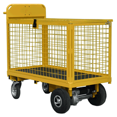 Motorised Full Security Cage Trolley
