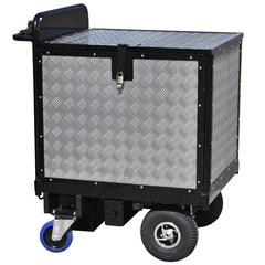 Aluminium Checker-plate Powered Trolley