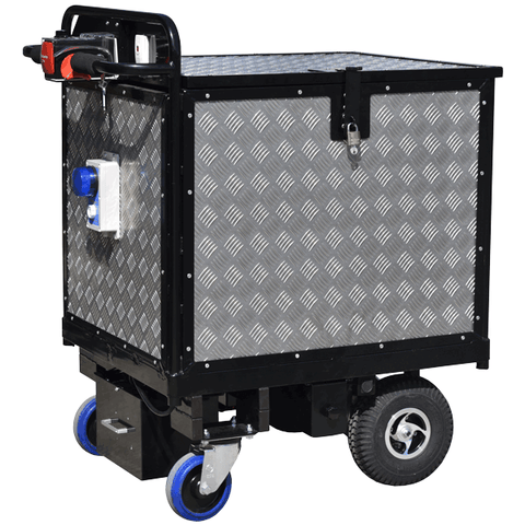 Aluminium Clad Security Trolley with Security Warning System