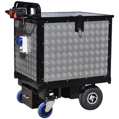 Aluminium Checker-plated Secure Locking Power Trolley