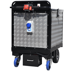 bespoke powered trolley with alarm