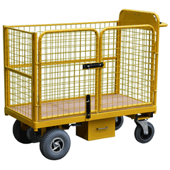 Powered Trolley with Gated Access Cage