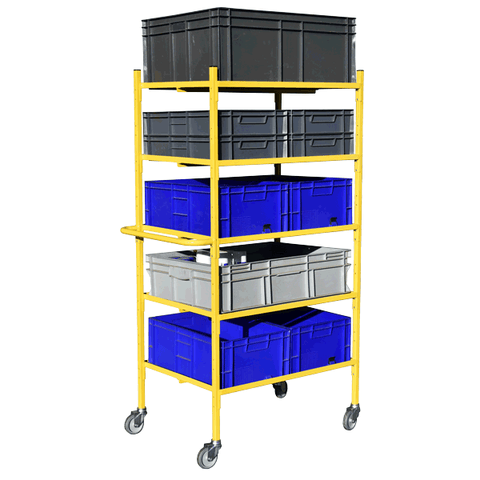 Shelf Trolley with Boxes
