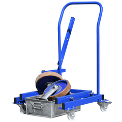 Tote Pan lifting trolley with heavy load