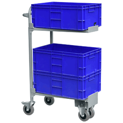 hospital stacking mail room trolley