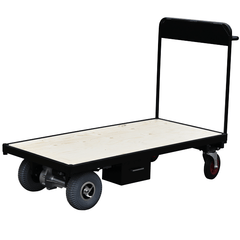 Powered Flatbed Trolley finished in Black
