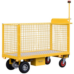 extra large powered trolley with warning beacon