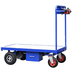 Powered Trolley powder coated in blue