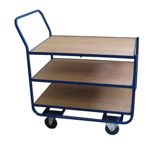 Trolley with 2, 3 or 4 shelves