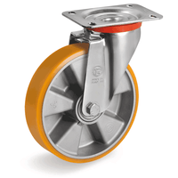Aluminium Centre Castor with Polyurethane Tyre Swivel