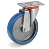 Castor with Elastic Rubber Tyre Swivel