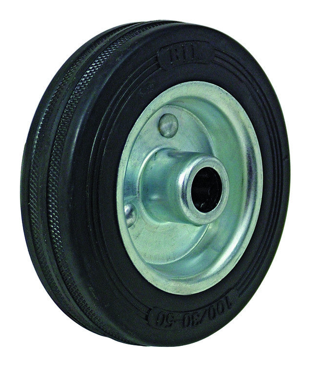 Solid 8 inch sack truck wheels with heavy duty roller bearing