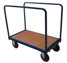 Adjustable double sided trolley with goal post styled sides